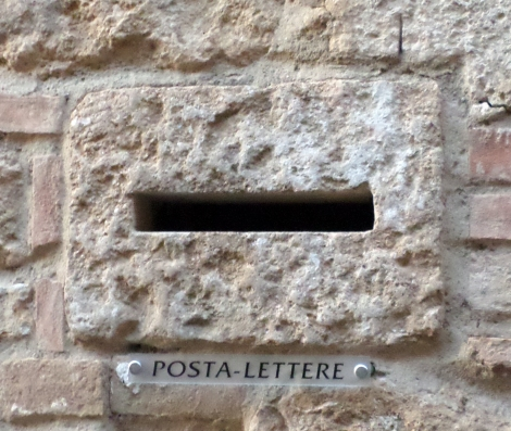 A current post box system.